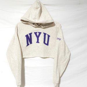 NYU Crop hoodie